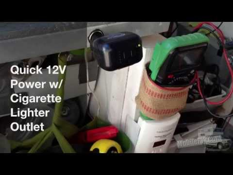 Quick 12V Power For DIY Truck Camper Using Cigarette Lighter Outlet