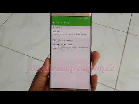 Samsung Galaxy S7 Edge : How to Block or unblock phone number