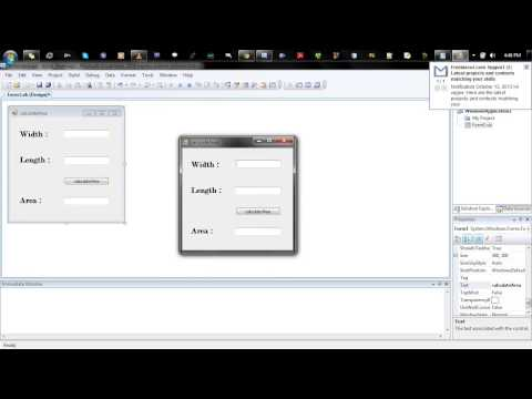 simple GUI program in visual basic