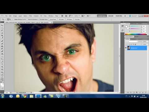 Photoshop cs5 tutorial - How to change eye color Featuring Ray William Johnson (HD)