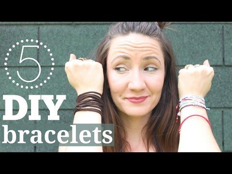 5 Easy DIY Bracelets