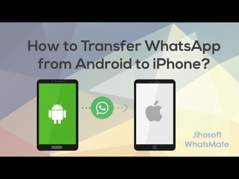 How to Transfer WhatsApp from Android to iPhone X/8/7?