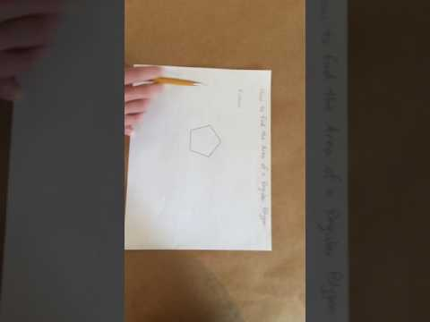 Finding the apothem to calculate the area of a regular polygon