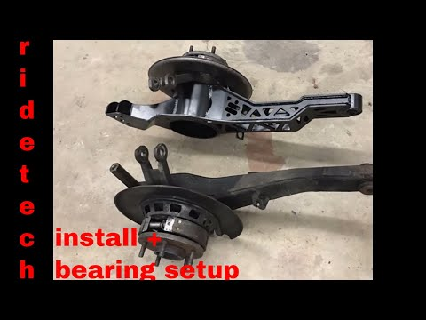 corvette ridetech rear trailing arms, coil overs & new bearings, time-lapse and more