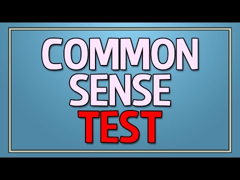 Common Sense Test - 90% fail