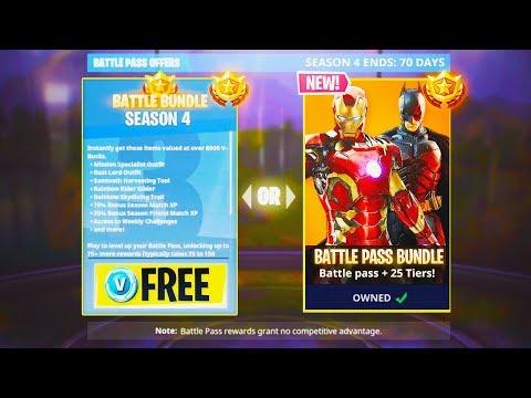 Fortnite Season 4 NEW Battle Pass! - NEW Season 4 in Fortnite: Battle Royale! (Fortnite Update)