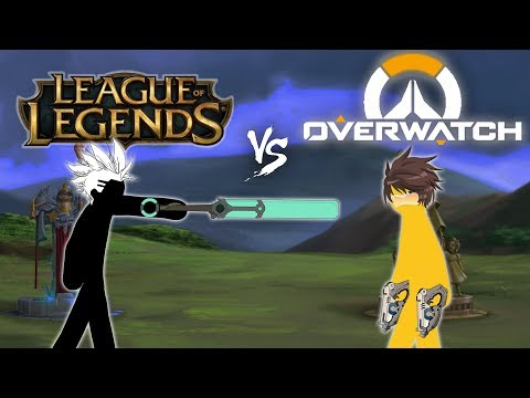 [NEW] LEAGUE OF LEGENDS VS OVERWATCH EPISODE 1 - STICKFIGURE ANIMATION