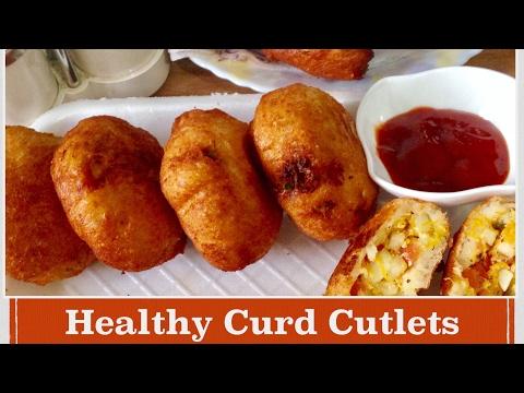 Dahi Khere ke Kabab Recipe | How to make Healthy Curd Cucumber Cutlets | Breakfast Recipe | In Hindi