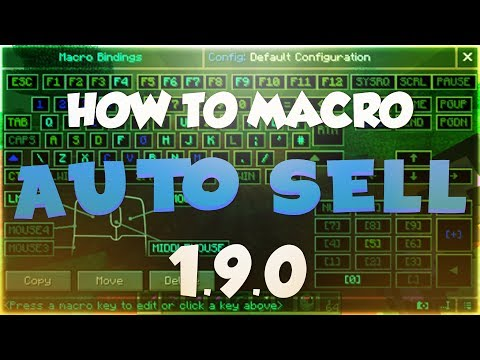 HOW TO SETUP MACRO TO AUTO SELL IN MINECRAFT 1.9.0