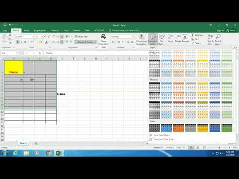 Basic Excel Skills for beginners in MS Excel 2018
