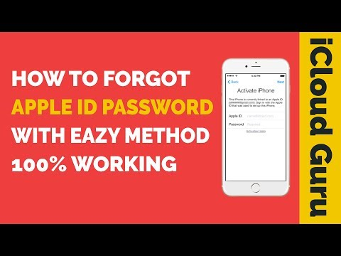 How To Forgot Apple ID Password With Eazy Method 100% Working By iCloud Guru