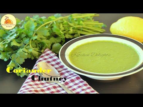 Coriander chutney  Green chutney for Kebab, Fries, Chat, Paratha   Hari chutney  Dhaniya Chutney