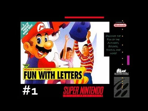 Mario's Early Years: Fun with Letters (SNES) - First Letter World part 1
