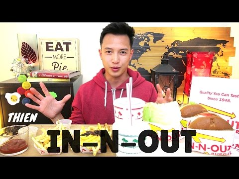 [mukbang with THIEN]: In-N-Out (Animal Style Cheeseburger, Protein Style Burger, and Animal Fries)