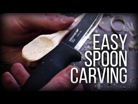 Easy Spoon Carving - Without a spoon knife