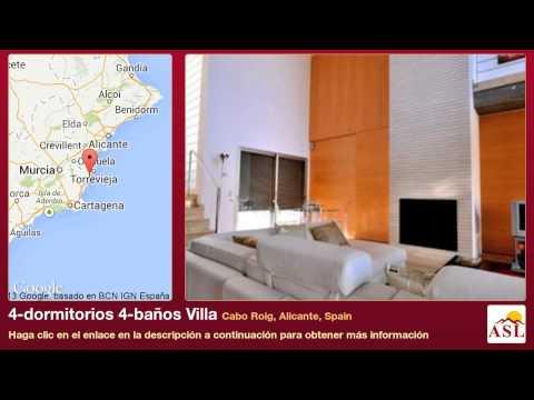 4-dormitorios 4-baños Villa se Vende en Cabo Roig, Alicante, Spain