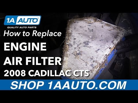How to Remove Replace Air Filter 2008 Cadillac CTS
