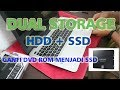 Asus A555L SSD Caddy + HDD + Boot Speed Test (How to) Indonesia