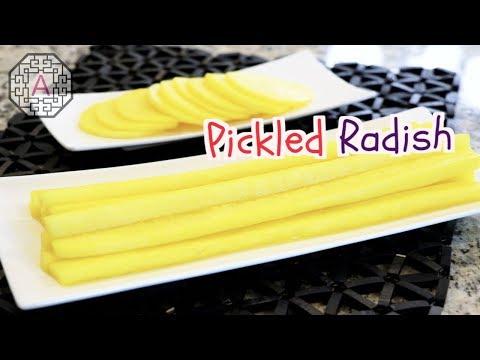 【Korean Food】 Homemade Yellow Pickled Radish (Danmuji, 단무지)