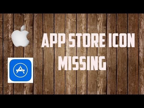 App store icon: App store icon missing from iPhone/iPad