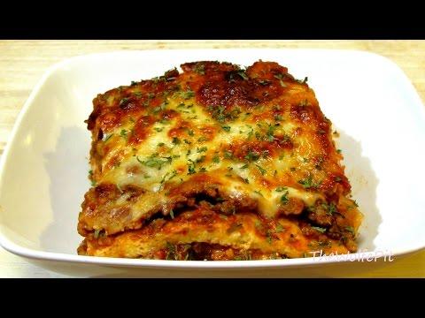 Lasagna Recipe - (Low Carb Recipe) - Noodleless Lasagna