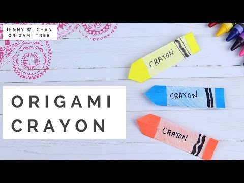 How to Make Crayons! Paper Crafts for Kids - Origami Crayon DIY