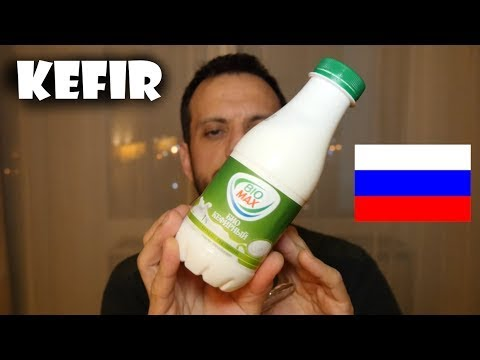 Russian Snacks - Fermented Milk Drink Kefir Кефир