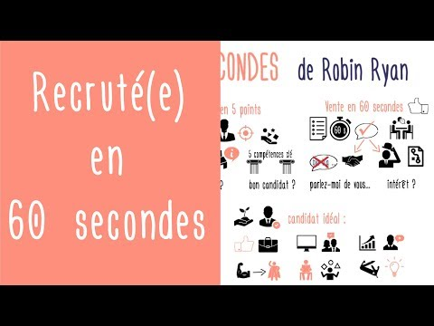 Recruté(e) en 60 secondes : préparer l'entretien d'embauche pour le réussir de Robin Ryan