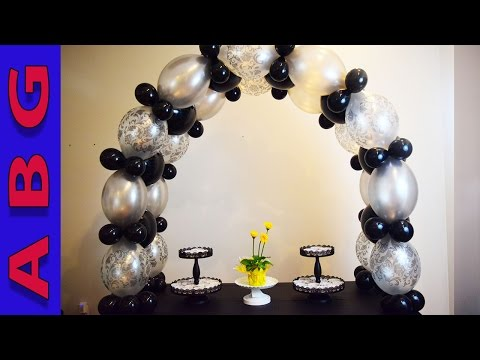 Large Balloon Arch tutorial no helium without stand great for entrance ways and tunnels! Quick Links