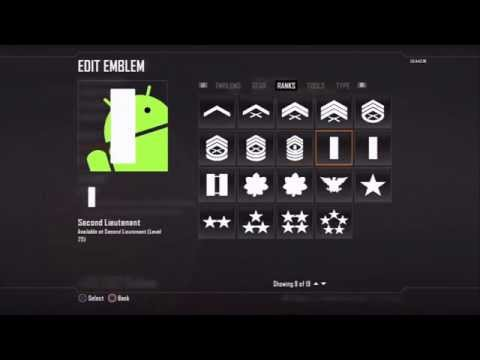 Black Ops 2: Android emblem - so EASY to make