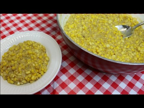 Southern Style Creamed Corn ~ Creamed Corn Recipe ~ Thanksgiving 2016 ~ Noreen's Kitchen