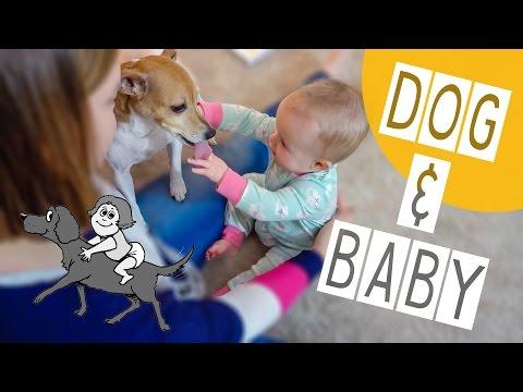 BABY LOVES HER DOG!