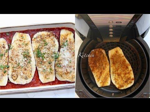Air Fryer Eggplant Parmesan Vegetarian Vegan option Video Recipe | Bhavna's Kitchen