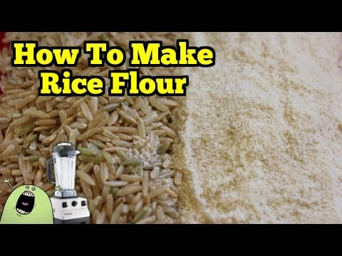 Make Gluten Free RICE FLOUR in the VitaMix