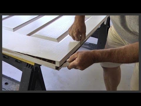 Door repair with Gorilla glue