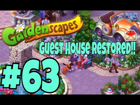 GARDENSCAPES NEW ACRES #63 Gameplay Story Playthrough | Area 10 New Guest House Area Day 5 Ending