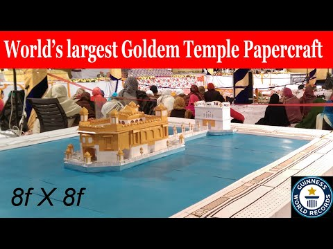golden temple paper model making by C&C