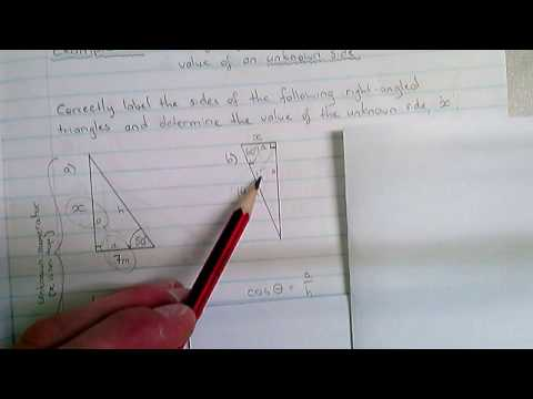 Trigonometry - Example 2 (calculating an unknown side)