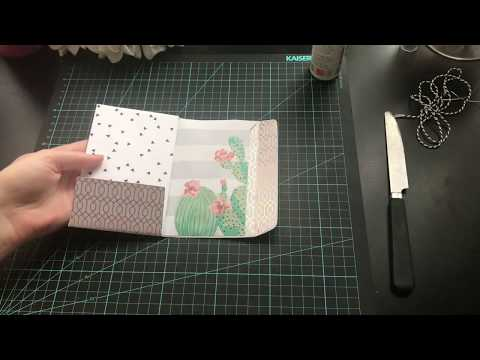 How to decorate envelope flip books