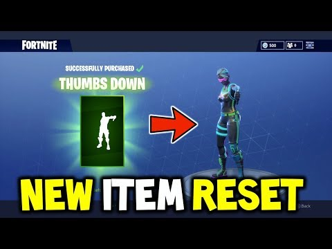 *NEW* THUMBS UP + THUMBS DOWN EMOTES - ITEM STORE RESET - BEFORE YOU BUY? - FORTNITE EMOTES GAMEPLAY