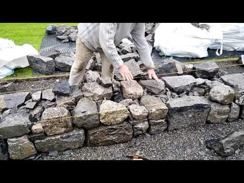 Wall building advice from stonemason Michael Fearnhead