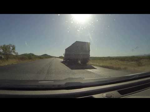 Semi-Trailer Truck pulls to Shoulder with Shredded Tire, AZ-86, Mile 145, 21 May 2018 GOPR2406