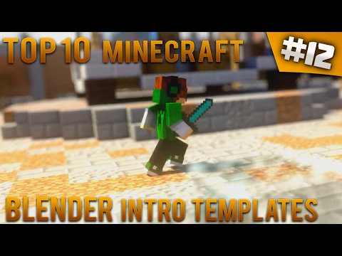 TOP 10 Minecraft Blender intro templates #12 (Free download) - IntroFactory