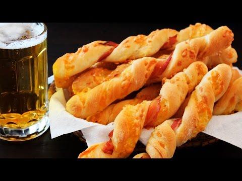 Cheese Bacon Straws Recipe ♥ Cheesy Bread Sticks Recipe ♥ Tasty Cooking