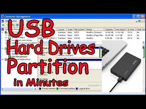 Windows 10 How To Partition Hard Drives || How to Make External Hard Disk Partitions in 5 Minutes