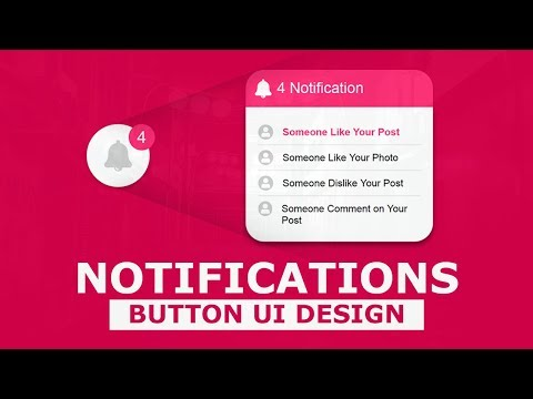 Notification Button UI Design With Cool Hover Effects Using Html And CSS - Pure CSS Tutorials