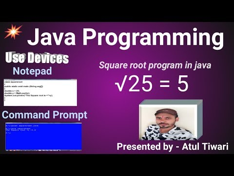 square root program in java