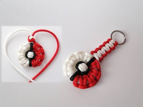 How to Make a Pokemon-Pokeball Themed Paracord Necklace and Keychain