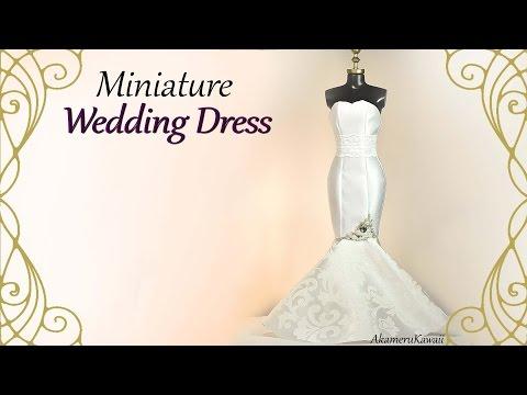 Miniature Mermaid Wedding Dress - Doll Craft Tutorial