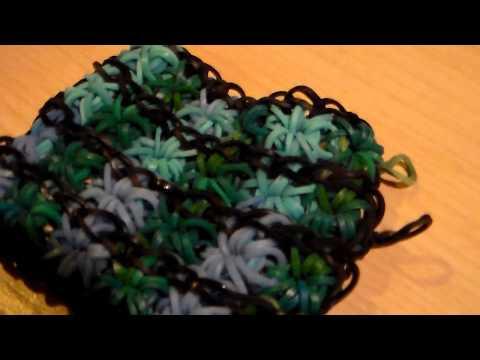 How to make a double, triple, quadruple, or beyond starburst bracelet on one Rainbow Loom part2